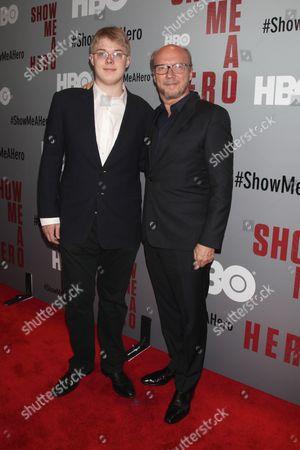 Paul Haggis (R) and aon James Haggis (L)
