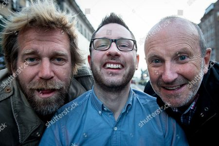 Stock Photo of Tony Law and Fred MacAuley with Gordon Aikman