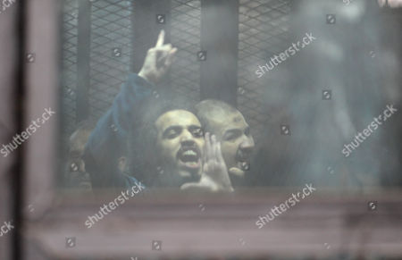 Editorial picture of Trial of members of the Muslim Brotherhood, Cairo, Egypt - 10 Aug 2015