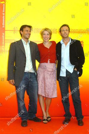Francois Ozon, Valeria Bruni Tedeschi and Stephane Freiss