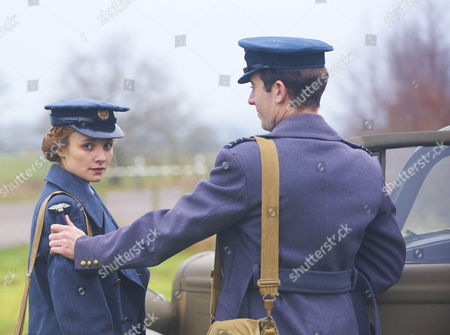 Leila Mimmack as Laura Campbell and Philip Mcginley as RAF Wing Commander Richard Bowers.