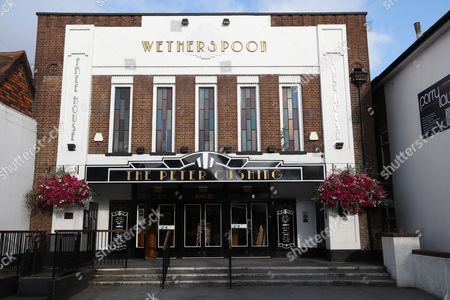 """Stock Image of """"The Peter Cushing"""", former cinema, now a pub"""