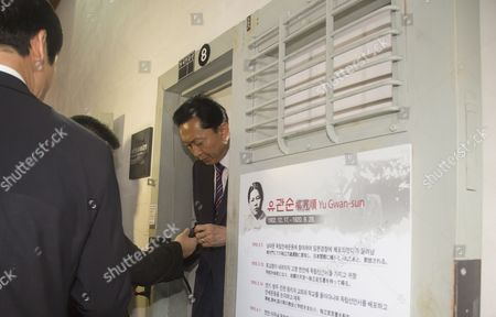 Japan's former Prime Minister Yukio Hatoyama visits the prison