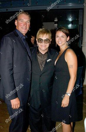 Matthew Pinsent, Elton John and Demetra Koutsoukos