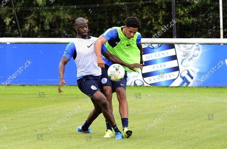 Cole Kpekawa of QPR and Samba Diakite