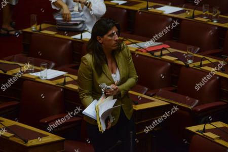 Zoe Konstantopoulou, speaker of the Hellenic Parliament