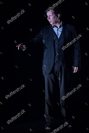 Stock Image of Robert Lepage performing '887'