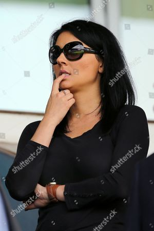 Sky TV Presenter, Natalie Sawyer watches her partner, Jonathan Douglas of Ipswich Town from the stand. Ipswich Town v Sheffield Wednesday, Sky Bet Championship match at Portman Road. 15/08/15 Picture by Richard Calver