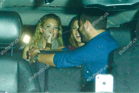 Kate Hudson at Nice Guy night club with her agent Michael Kives