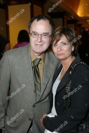 David Lander and wife .