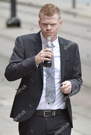 Editorial image of Jordan Higgins Son Of Late Snooker Player Alex Higgins Appears At Manchester Minshull St. Crown Court Charged With Robbery. (pleads Not Guilty. Next Hearing Oct 23rd With Trial Start Date March 25th 2015). Pic Bruce Adams / Copy Manchester - 7/8/14.