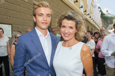 Anne-Sophie Mutter and son Richard