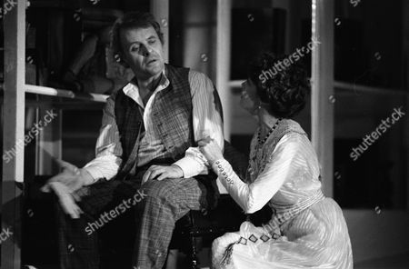 """Stock Picture of Anthony Hopkins & Samantha Eggar appearing in """"The Lonely Road"""" at Guildfords Yvonne Arnaud Theatre, and Londons Old Vic theatre."""