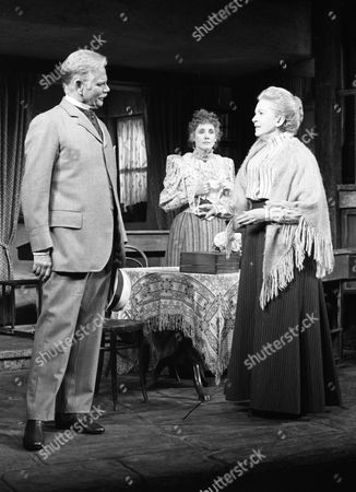 Stock Picture of Corn is Green at Yvonne Arnaud Theatre Guildford April 1985 Allan Cuthbertson, Elizabeth Counsell & Deborah Kerr