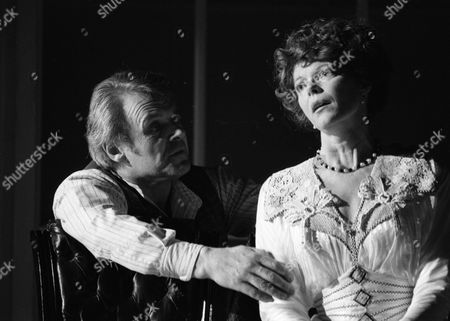 """Anthony Hopkins & Samantha Eggar appearing in """"The Lonely Road"""" at Guildfords Yvonne Arnaud Theatre and London's Old Vic"""