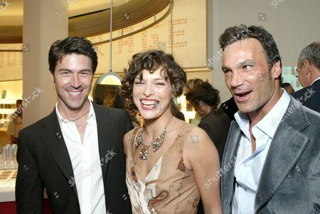 Kyan Douglas, Milla Jovovich and Jonathan Antin