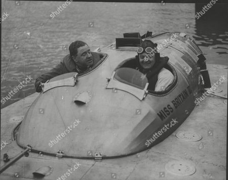Hubert Scott-paine Motor Boat Racer And His Mechanic Chief Engineer Gordon Thomas After Their Record At Southampton Today. Box 0623 23072015 00352a.jpg.