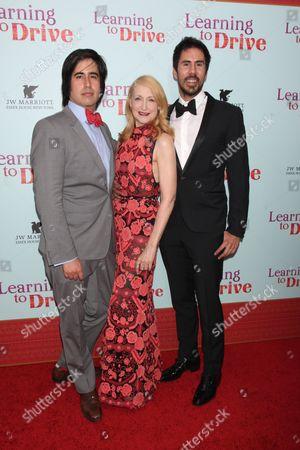Stock Image of Daniel Hammond, Patricia Clarkson and Gabriel Hammond
