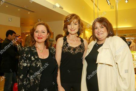 Agapi Stassinopoulos, Arianna Huffington and Iris Grossman