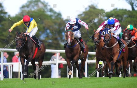 Stock Picture of Sligo ENTER THE RED & Fran Berry (right) win the Joe Queenan Sligo GAA Handicap from CASH OR CASUALTY & Rory Cleary (left)