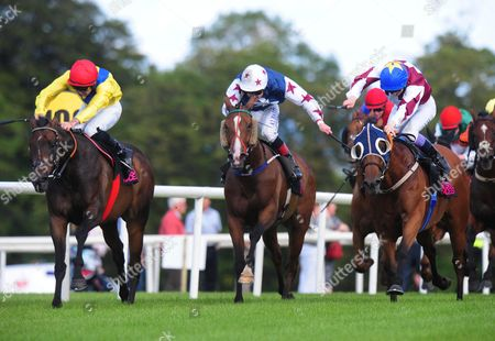 Stock Photo of Sligo ENTER THE RED & Fran Berry (right) win the Joe Queenan Sligo GAA Handicap from CASH OR CASUALTY & Rory Cleary (left)