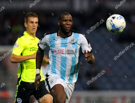 Ishmael Miller of Huddersfield Town during the Sky Bet Championship match between Huddersfield Town and Brighton & Hove Albion played at The John Smith's Stadium, Huddersfield