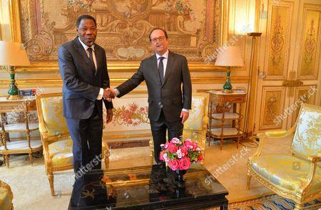 Francois Hollande and Yayi Boni