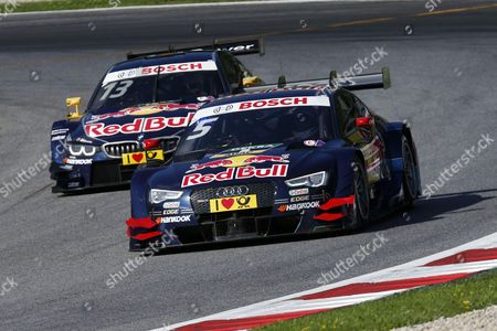 #5 Mattias Ekstroem (SWE, Audi Sport Team Abt Sportsline, Audi RS 5 DTM)  #13 Antonio Felix da Costa (POR, BMW Team Schnitzer, BMW M4 DTM)