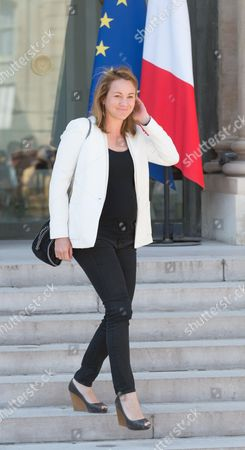 French Digital Economy junior minister, Axelle Lemaire leaves after the weekly cabinet meeting at Elysee Palace