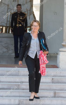 French Minister for State Reform, Decentralisation and Public Administration, Marylise Lebranchu leaves after the weekly cabinet meeting at Elysee Palace
