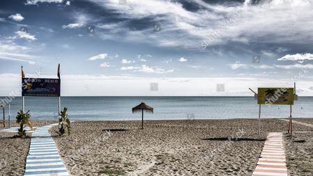 El Gato Beach, Costa del Sol, Torremolinos, Malaga, Andalusia, Spain