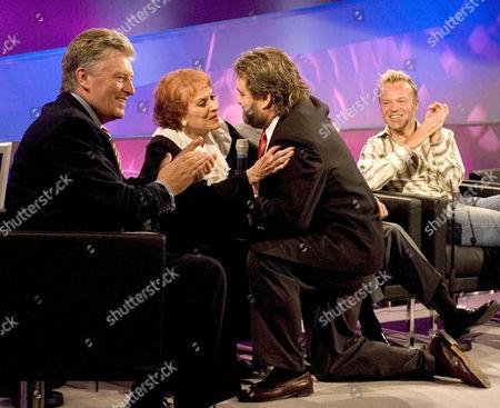 Pat Kenny with Maureen O'Hara, Brendan Grace and Graham Norton
