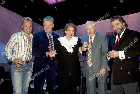 Stock Photo of Graham Norton, Pat Kenny, Maureen O'Hara, Gay Byrne and Brendan Grace