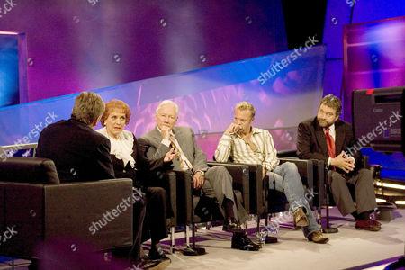 Pat Kenny with Maureen O'Hara and Gay Byrne, Graham Norton and Brendan Grace