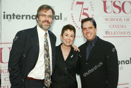Gary Rydstrom, Dean Elizabeth M. Daley and Lee Unkrich