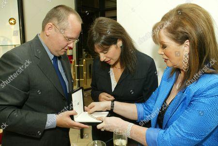 Jan-Patrick Schmitz, Tiffany Sacks and Jackie Collins