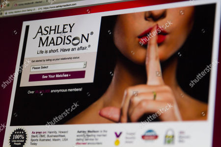Stock Picture of A detail of the Ashley Madison website