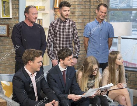 Richard Riddell, Thomas Underwood with father Anthony, Ella Cuss with brother Adam Britain and Isabel Summers with father Andrew