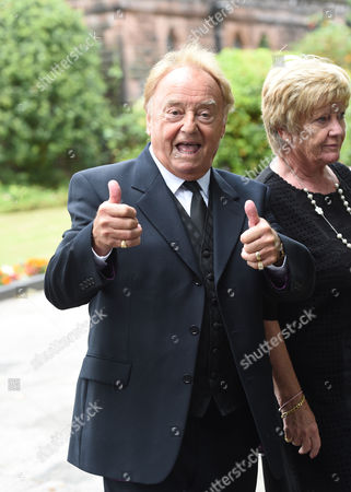 Editorial picture of Funeral of Cilla Black, St Mary's Church, Woolton, Liverpool, Britain - 20 Aug 2015