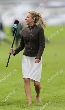 Horse Racing York The Ebor Meeting Day2  Channel 4 Racing Interviewer Emma Spencer