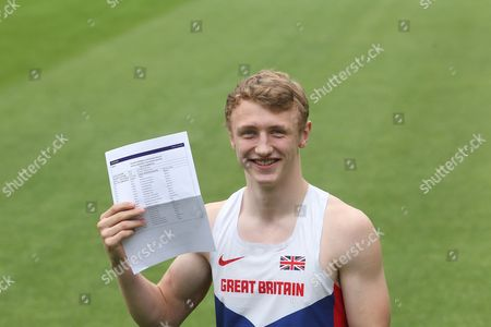 """Stock Picture of 16 year old Sam Talbot who gained 9 A*  and 2 'A""""s at Caterham School, Surrey, despite heading off between exams to Tenerife to compete in his sport the Decathlon representing Great Britain"""