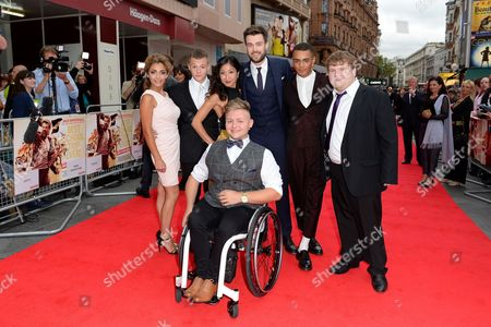 Stock Picture of Jack Whitehall, Jack Binstead, Layton Williams and Ethan Lawrence - Bad Education Cast
