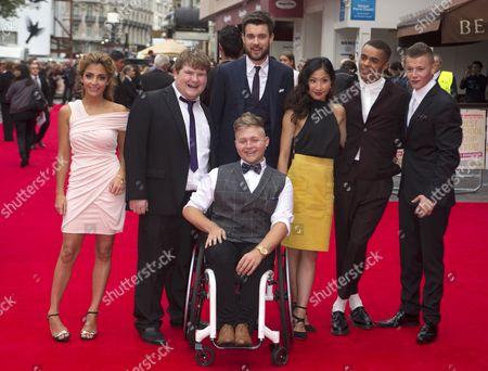 Jack Whitehall, Jack Binstead, Layton Williams and Ethan Lawrence - Bad Education Cast