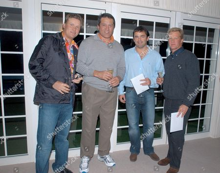 Stock Picture of JARMO SANDELIN WITH ZINZAN BROOKE, WILL CARLING AND MICHAEL LYNAGH