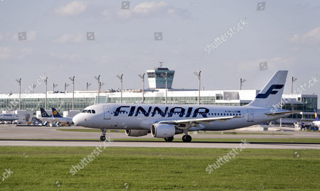 Finnair Airbus A320-214, registration number OH-LXD, taxying at Munich Airport, Munich, Upper Bavaria, Bavaria, Germany