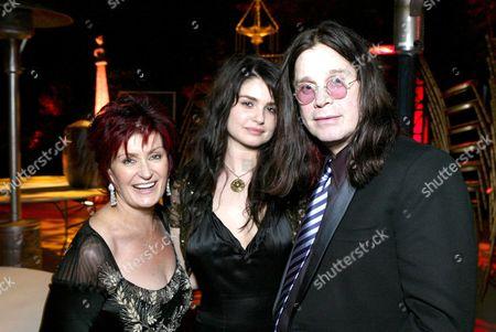 Sharon Osbourne, Aimee Osbourne and Ozzy Osbourne