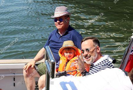 Sir Elton John, David Furnish and their children Sir Elton John and Zachary Furnish-John and Elijah Furnish-John