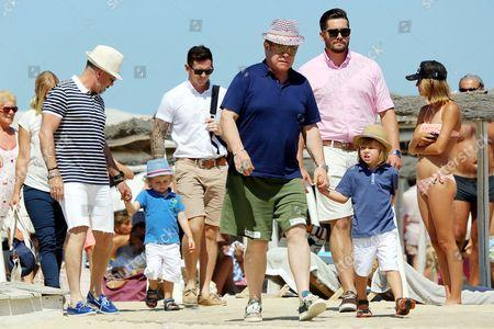 Sir Elton John, David Furnish and their children Zachary Furnish-John and Elijah Furnish-John