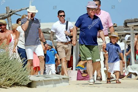 Sir Elton John, David Furnish and their Zachary Furnish-John and Elijah Furnish-John