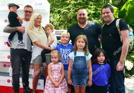 Stock Image of Tori Spelling, Dean McDermott, Scout Masterson, Bill Horn, Children